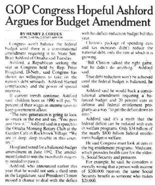 Congress Hopes Ashford Argues for Budget Amendment